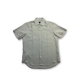 HUGO BOSS shirt in light green linen