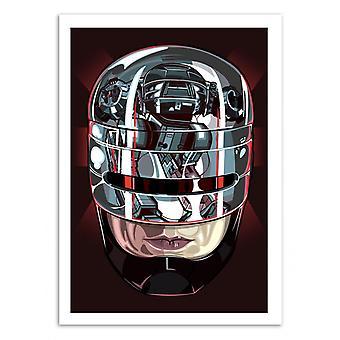 Kunst-Poster - Robocop - Samuel Ho 50 x 70 cm