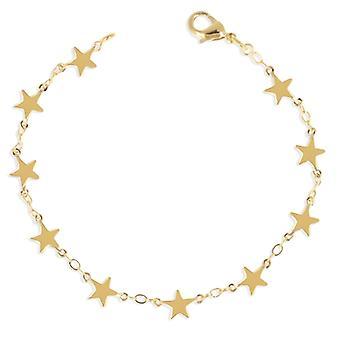 Guldpläterad arm band stjärna 19cm