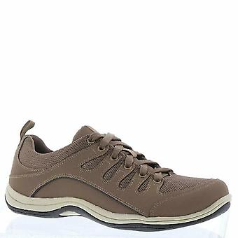 Easy Street Womens Ellen Leather Low Top Lace Up Walking Shoes