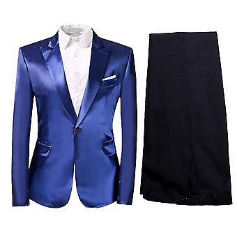 Allthemen heren 2-delig Solid suits een knop casual & formele slim fit suits blazer & broek