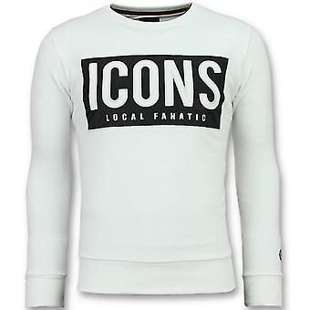 ICONS Block-Cool Sweatshirt men-6355W-White