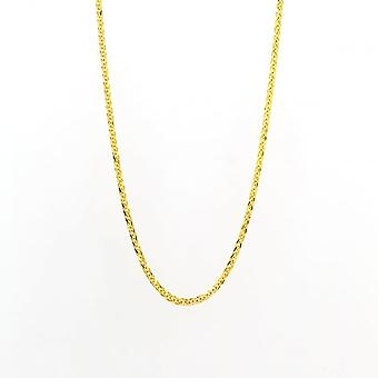 Eternity 9ct Gold 18'' Square Spiga Chain