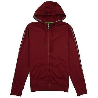 Hugo Boss Saggy Pin Stripe Hoody Burgundy