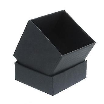 Scatola regalo nera con schiuma inserto piccolo quadrato