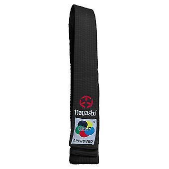 Hayashi WKF Karaté Belt Noir
