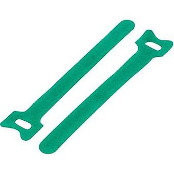 Hook-and-loop cable tie for bundling Hook and loop pad (L x W) 180 mm x 12 mm Green KSS MGT-180GN 1 pc(s)