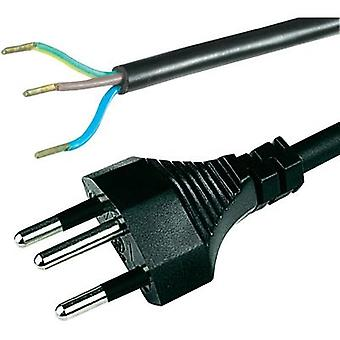 Current Cable [ Swiss plug - Cable, open-ended] Black 2 m HAWA 1008242