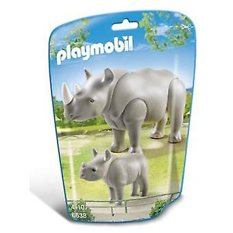 Playmobil 6638 Rhino with Baby