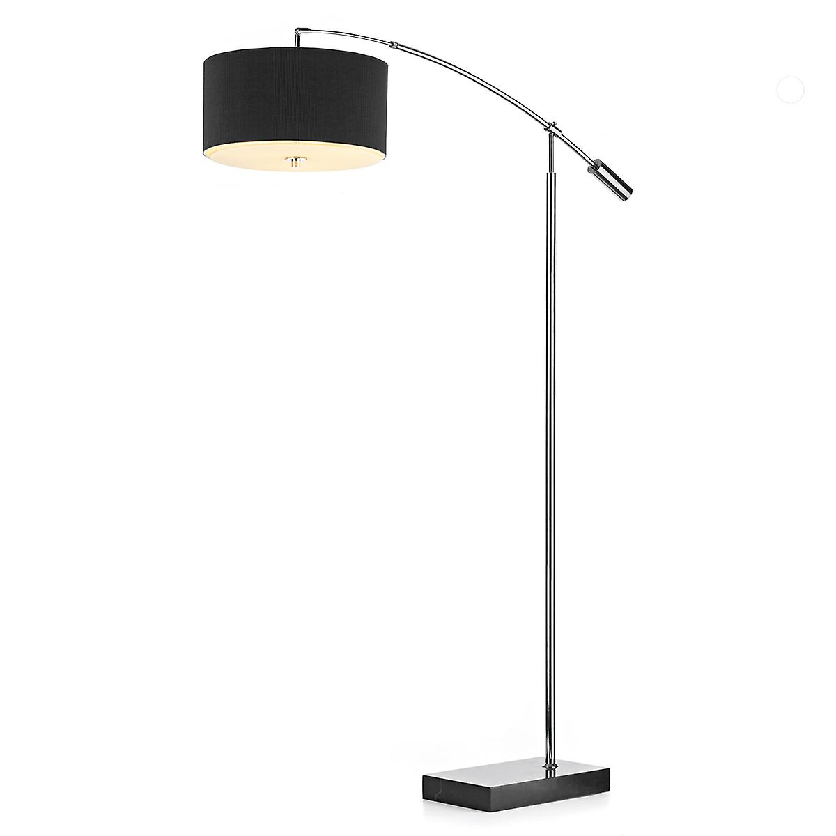 Dar ZAR49 Zaragoza Chrome Floor Lamp Stand Only With Marble Base