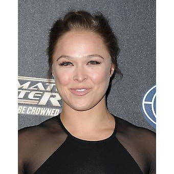 Ronda Rousey At Arrivals For The Ultimate Fighter Premiere Lure Nightclub Los Angeles Ca September 9 2014 Photo By Dee CerconeEverett Collection Photo Print