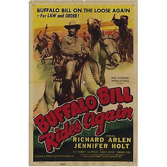 バッファロー ・ ビルの乗り物再び映画ポスター印刷 (27 × 40)