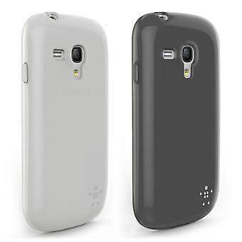 Belkin Grip Sheer double shell Cover for Samsung Galaxy S3 Mini Black / Clear