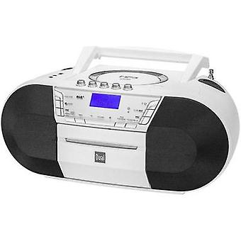 DAB+ Radio/CD Dual DAB-P 200 DAB+, FM, USB, AUX, CD, Tape White