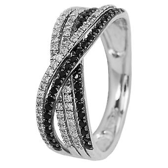 Burgmeister women's ring JBM2013-121, 925 sterling silver rhodanized, white zirconia