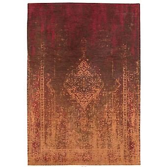 Distressed Mango Brown Medallion Flatweave Rug 280 x 360 - Louis de Poortere