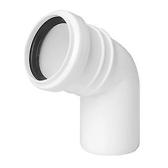 Avlopp armbåge Connector gemensamma 32mm röret Diameter 67deg monteringsvinkeln