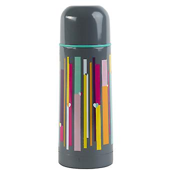 Beau & Elliot Linear Stripe Insulated Vacuum Flask, 350ml