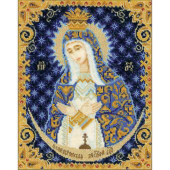 Our Lady Of The Gate Of Dawn Counted Cross Stitch Kit-5.25