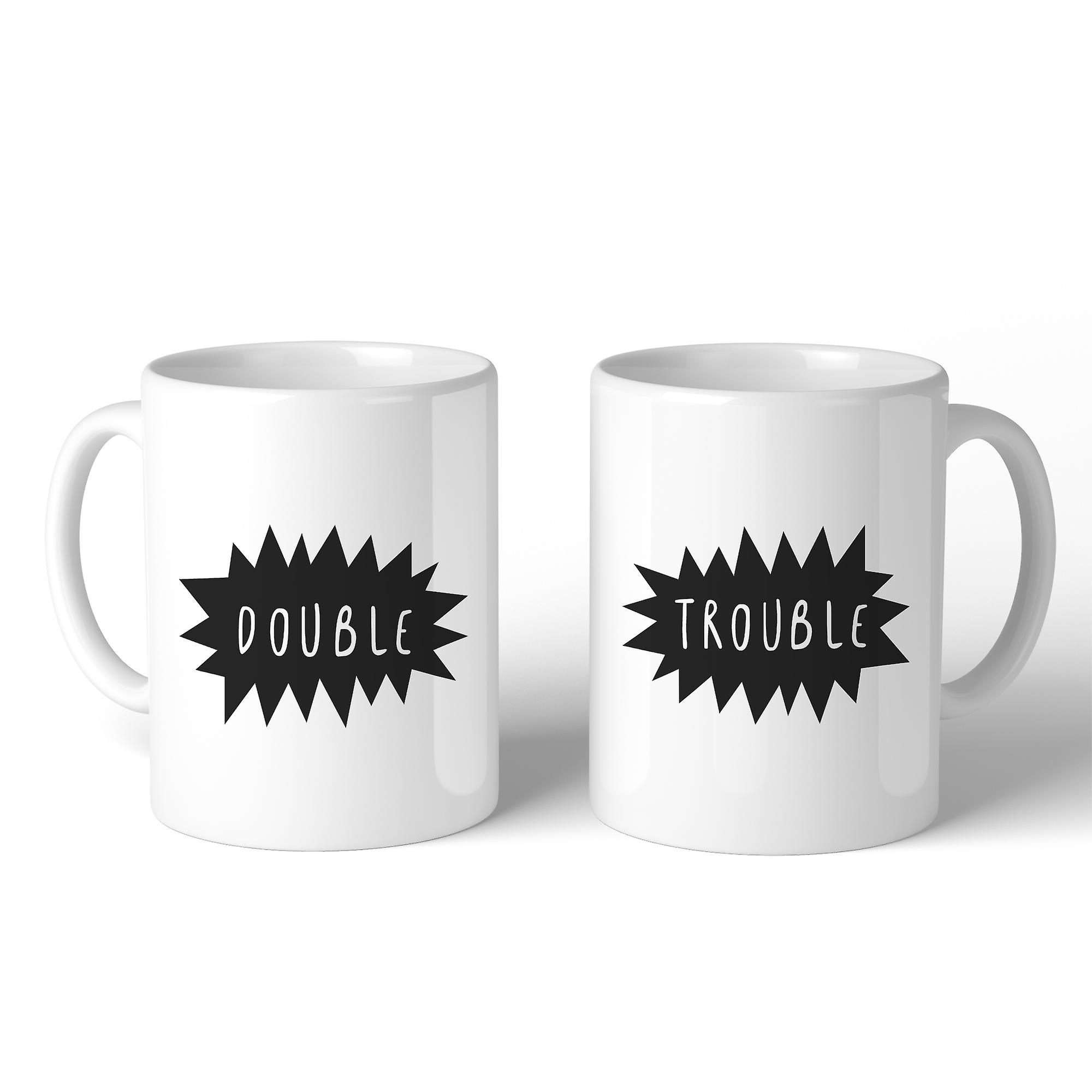 Best Mugs Unique Design Double Friends Trouble Funny Matching Gifts FclKT1J3