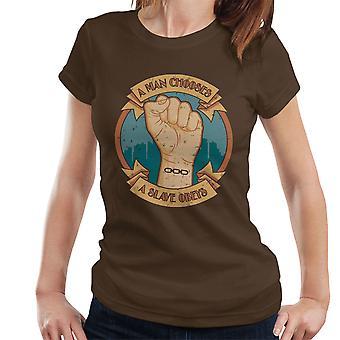 A Man Chooses A Slave Obeys Bioshock Women's T-Shirt