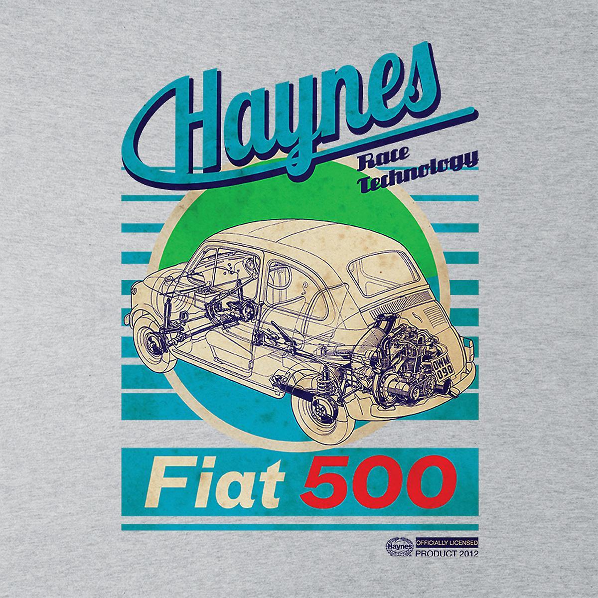 Haynes Workshop handmatige Fiat 500 blauwe streep mannen Varsity Jacket