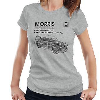 Haynes Workshop Manual 0024 Morris Minor 1000 schwarz Damen T-Shirt