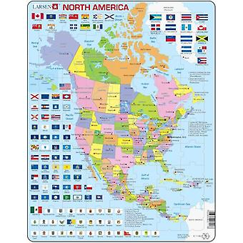 Larsen Large North America Political Puzzle (Toys , Boardgames , Puzzles)