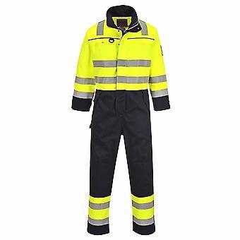 Portwest - Hi-Vis flamme motstandsdyktig Workwear multi normen kjeledress Boilersuit