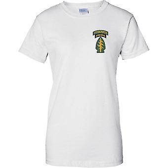 Spezialeinheiten zerstreute Insignia - Green Beret - Delta - Militär - Damen Brust Design T-Shirt