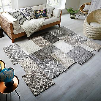 Eclectic Agra Rugs In Grey By Luxmi