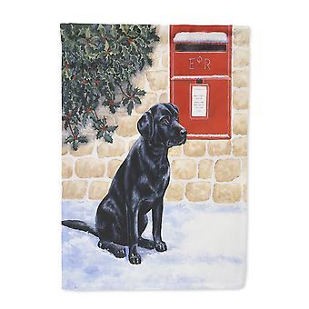 Carolines Treasures  BDBA0301GF Black Labrador by the Mail Box Flag Garden Size