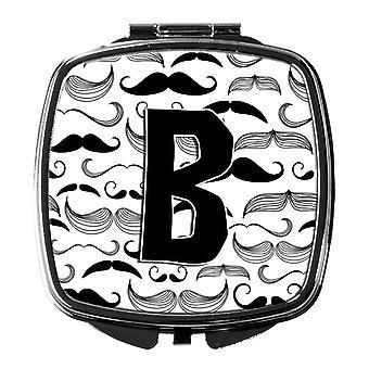 Carolines Schätze CJ2009 BSCM Buchstabe B Schnurrbart erste Kompakt-Spiegel
