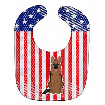 Carolines Treasures  BB3062BIB Patriotic USA German Shepherd Baby Bib