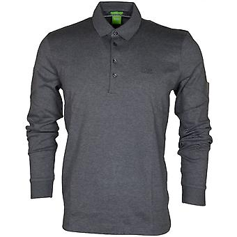 Hugo Boss Black Paderna 30 Long Sleeve Regular Fit Grey Polo