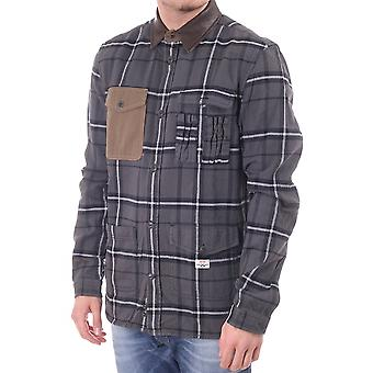 Diesel Mens Checked Shirt With Contrast Collar Amd Chest