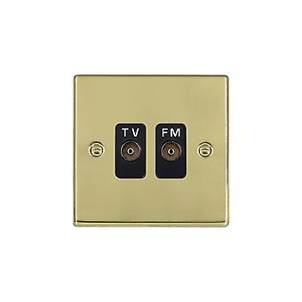 Hamilton Litestat Hartland Polished Brass Isolat TV/FM Diplex 1in/2out BL