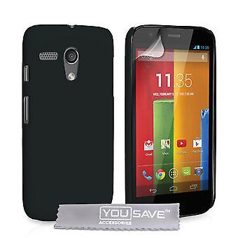 Yousave Accessories Motorola Moto G Hard Hybrid Case - Black