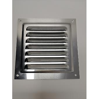 Air Vent Grill - 125 x 125 mm - Metall - Aluminium Rost frei mit Moskito / Bug Net