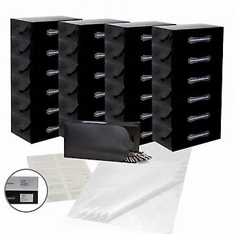 The Black Shoe-Stacking Set (25 Boxes, 12 Pockets & 25 Tissue Sheets)