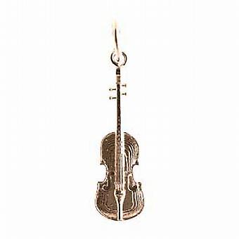 9ct guld 21x7mm Violin hänge eller Charm