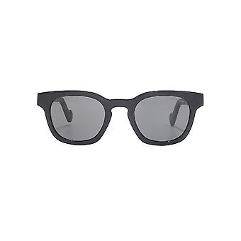 Moncler Square Keyhole Sunglasses In Shiny Black