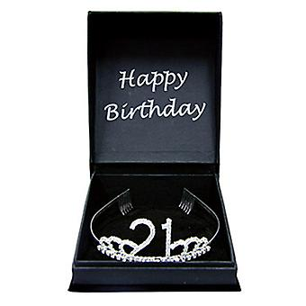 Happy Birthday Diamante Tiara w/ Gift Box