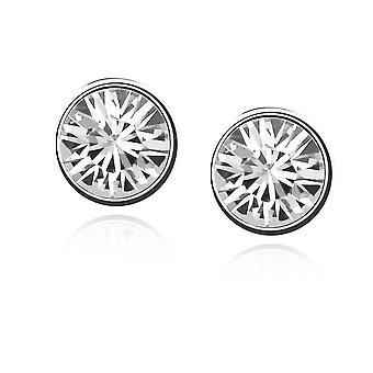 Womens petit cristal Stud boucles d'oreilles bijoux clair