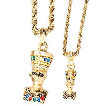 Iced bling mini cadena colgante conjunto - 2 x Reina de Egipto