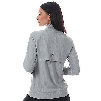 Womens adidas Climalite Jacket In Medium Grey Heather
