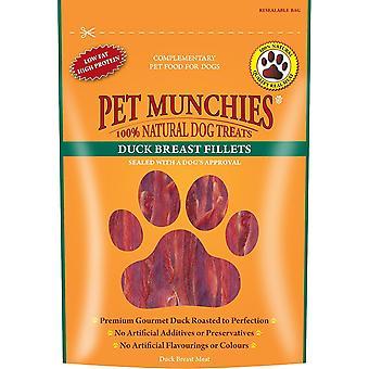 Munchies hund behandle Duck filet 100 g (Pack af 8)