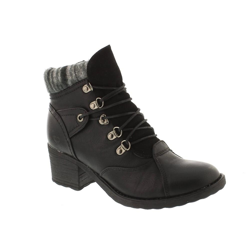 Heavenly Feet Scarva - Black (Man-Made) Womens Boots