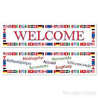 Internationella Välkommen Banner