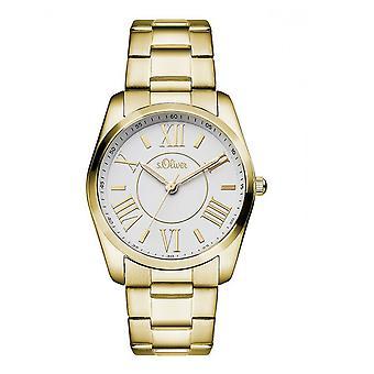 s.Oliver ladies watch wrist watch SO-3086-MQ gold